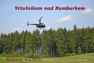 Vrtulník nad Rumburkem - u příležitosti oslav Rumburské vzpoury