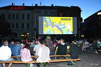 Kinematograf na náměstí v Rumburku