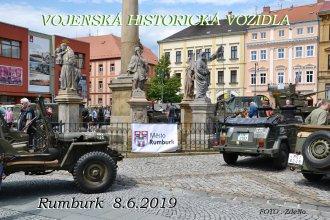 Vojenská historická vozidle v Rumburku
