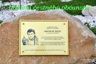 Udělení čestného občanství - Jaroslav Falta